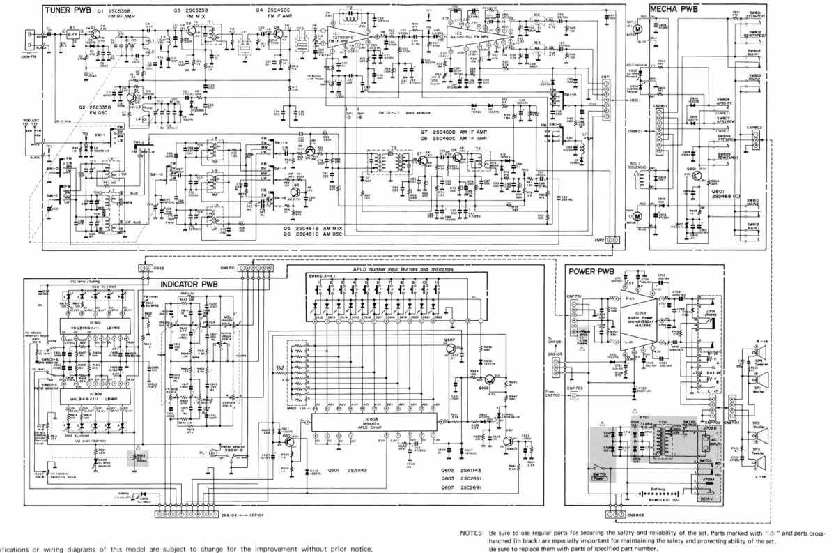 схема магнитофонов jvc
